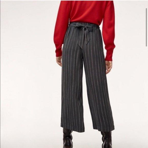 Wilfred Faun Pinstripe Wide Leg Pant